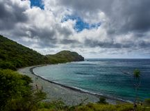Caribbean Bay, Virgin Islands, St. John, Rams Head Stock Photography