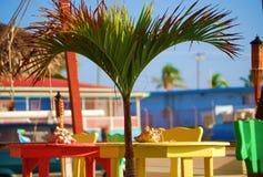 Caribbean Beach Bar. Bright Colorful Caribbean Beach Bar Royalty Free Stock Photography