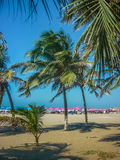 Caribbean Beach in Cartagena Colombia Stock Photography