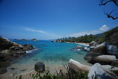 Caribbean beach of Colombia Stock Photography