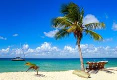 Caribbean beach in Dominican Republic Stock Image