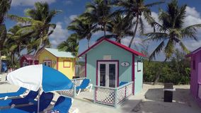 Caribbean beach houses stock video footage