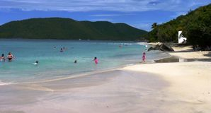 Caribbean beach. Island life: A beach scene in the Caribbean Stock Image