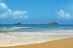 Caribbean beach. In Ixtapa , Mexico Royalty Free Stock Image