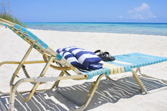 Caribbean Beach lounge chair Royalty Free Stock Photography
