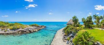 Caribbean beach in Mexico. Tropical beach in caribbean sea, Cancun, Mexico Stock Photo