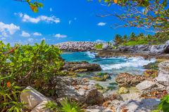 Caribbean beach in Mexico Royalty Free Stock Images
