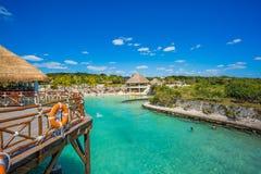 Caribbean beach in Mexico Royalty Free Stock Photo