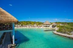 Caribbean beach in Mexico Stock Image