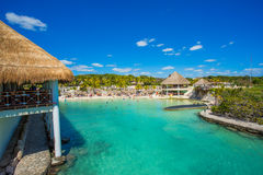 Caribbean beach in Mexico Royalty Free Stock Photo