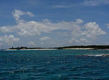 Caribbean Beach near Saint Martin Stock Photo