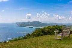 Caribbean beach on the northern coast of Jamaica Royalty Free Stock Photo