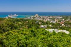 Caribbean beach on the northern coast of Jamaica Stock Image