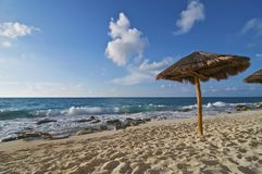 Caribbean Beach Palapa Royalty Free Stock Image
