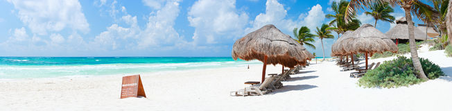 Caribbean beach panorama Stock Photography