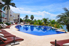 Caribbean Beach Resort, Mexico Royalty Free Stock Images