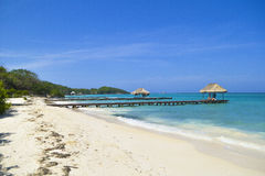Caribbean beach. At Rosario Islands, Colombia Royalty Free Stock Image