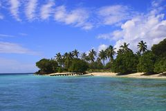 Caribbean beach, Samana island, Dominican republic. Caribbean Stock Images