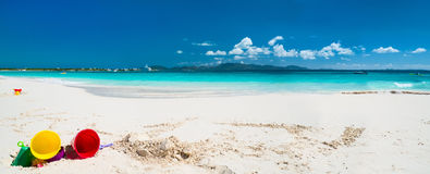 Caribbean beach and sea. On Anguilla Royalty Free Stock Photos