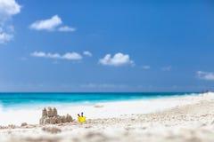 Caribbean beach and sea. On Anguilla Stock Photography