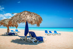 Caribbean beach. The Caribbean sunny beautiful beach Stock Photography