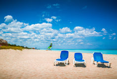 Caribbean beach. The Caribbean sunny beautiful beach Royalty Free Stock Photography