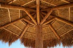 Caribbean beach sunroof in riviera Maya. Of Mayan Mexico Stock Photo