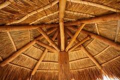 Caribbean beach sunroof in riviera Maya. Of Mayan Mexico Royalty Free Stock Photo