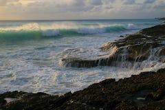 Caribbean beach surf royalty free stock image