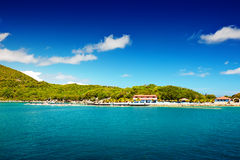 Caribbean beach and tropical sea in Haiti royalty free stock images