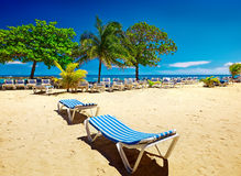 Caribbean beach and tropical sea in Haiti royalty free stock photography