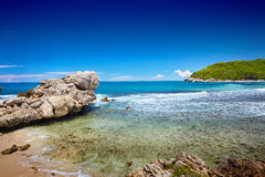 Caribbean beach and tropical sea in Haiti. Summer Caribbean beach and tropical sea in Haiti Stock Images