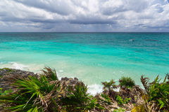Caribbean beach of Tulum Royalty Free Stock Image