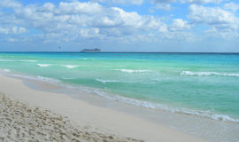 Caribbean beach with white sand Royalty Free Stock Photography