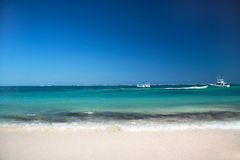 Caribbean beach with white sand , Punta Cana Stock Images