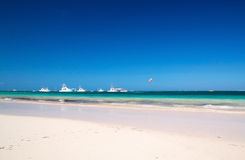 Caribbean Beach With Yachts Stock Photography