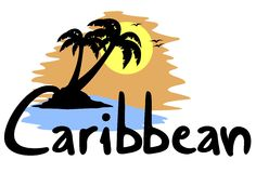 Caribbean bech. Creative design of caribbean beach Stock Photography