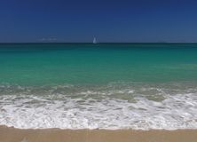 Caribbean Blue. One of 365 beaches at the caribbean island Antigua Stock Image