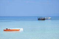Caribbean blue seascape Royalty Free Stock Photo