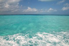 Caribbean blue turquoise sea water Stock Images