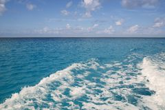 Caribbean blue turquoise sea water Royalty Free Stock Photos