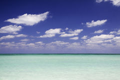Caribbean Blue Water Postcard Stock Images