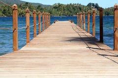 Caribbean board walk stock images