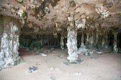 Caribbean Bonaire island dark cave Stock Photos