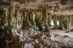 Caribbean Bonaire island dark cave Royalty Free Stock Photos