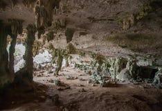 Caribbean Bonaire island dark cave Royalty Free Stock Image