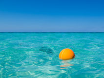 Caribbean Buoy. Buoy in the caribbean sea in Roatan, Honduras Stock Image