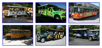Caribbean buses Royalty Free Stock Images