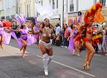 Caribbean Carnival dancers Royalty Free Stock Photos