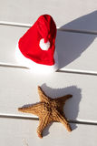 Caribbean christmas hat Stock Photos